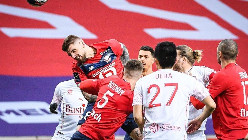 Evinde Nimes'e 2-1 mağlup olan Lille'in 11 maçlık yenilmezlik serisi sona erdi