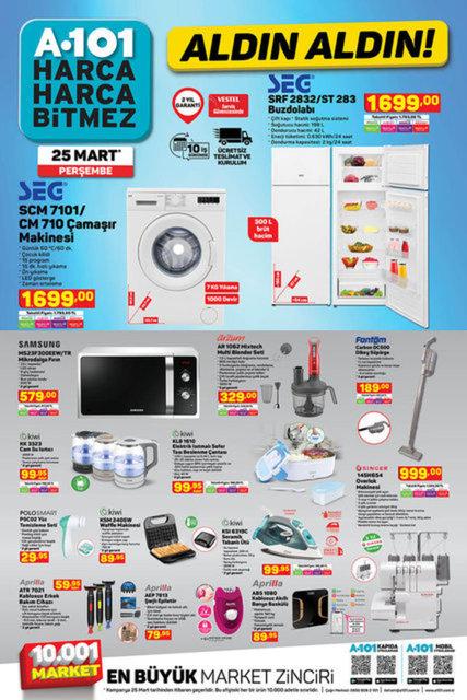 25 Mart A101 aktüel ürünler kataloğu: Bu hafta A101 indirimli ürünler listesinde neler var?