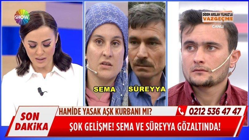 Show TV'de Didem Arslan Yılmaz'la Vazgeçme programı yine gündeme damgasını vurdu