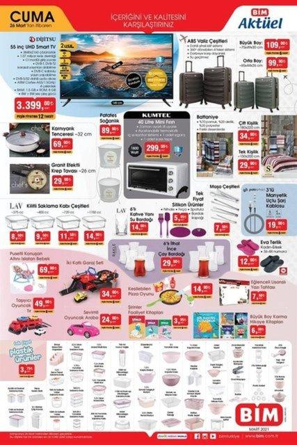 26 Mart BİM aktüel ürünler kataloğu! Bu hafta BİM indirimli ürünler listesinde neler var?