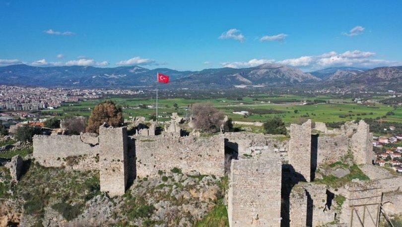 Beçin Antik Kenti'ndeki çeşmeden 700 yıl sonra yeniden su akmaya başladı