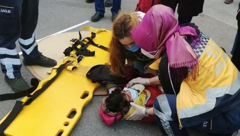 Yola fırlayan çocuk seyir halindeki otobüse çarptı! Kaza kamera görüntülerine yansıdı
