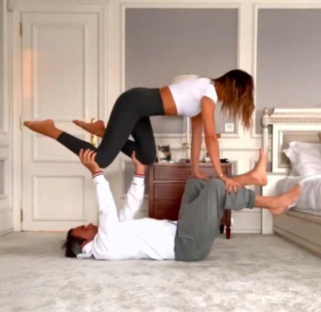 Zeynep Tokuş'dan yoga pozu! Yeni partnerim... - Magazin haberleri