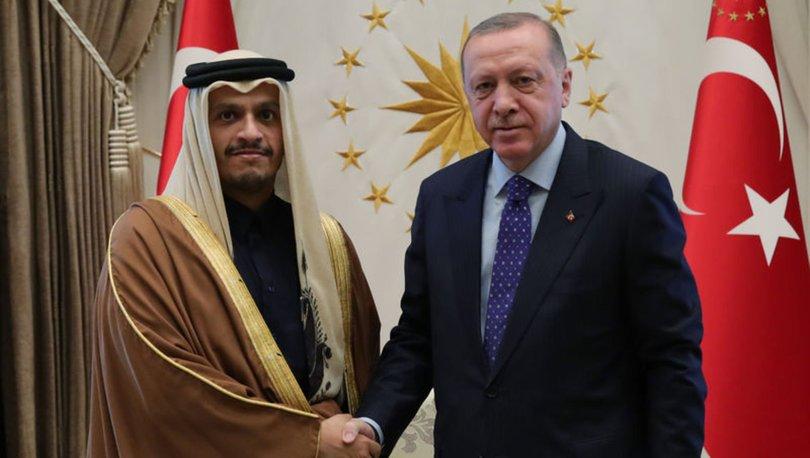 Son dakika Cumhurbaşkanı Erdoğan, Katar Dışişleri Bakanı Al Sani'yi kabul etti! - HABERLER