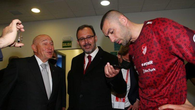 Erdoğan, A Milli Futbol Takım'ı tebrik etti