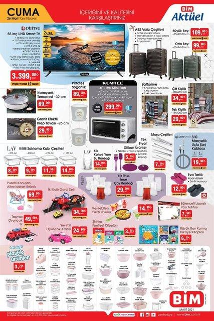 BİM 28 Mart 2021 aktüel ürünler kataloğus! BİM haftanın indirimli ürünler listesi...