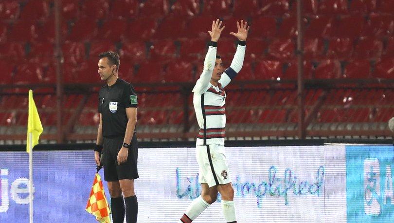 SON DAKİKA! Dünya Kupası Eleme Kupası maçında olay! Cristiano Ronaldo çıldırdı!