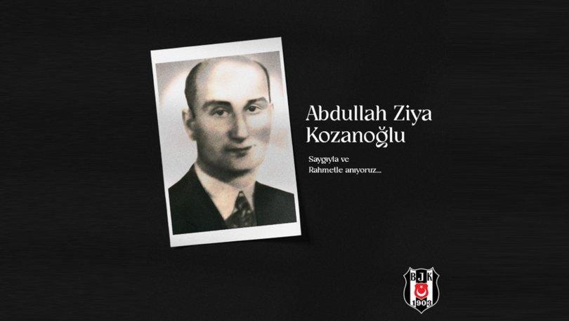 Beşiktaş Kulübü, eski başkanlarından Abdullah Ziya Kozanoğlu'nu andı