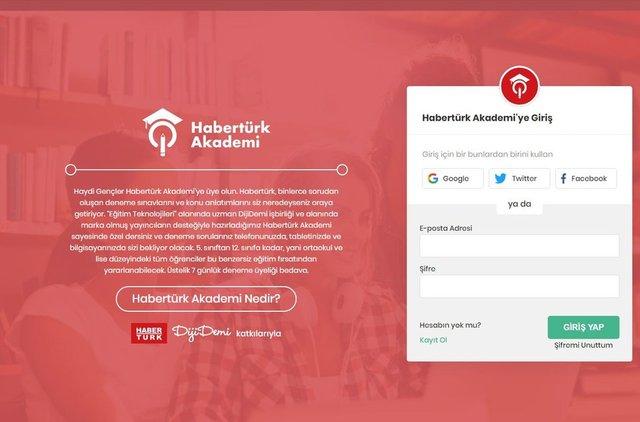 Habertürk Akademi'de AYT, TYT, YKS, LGS online deneme sınavlarınızla sıralamanızı öğrenin! 7 Gün ücretsiz!