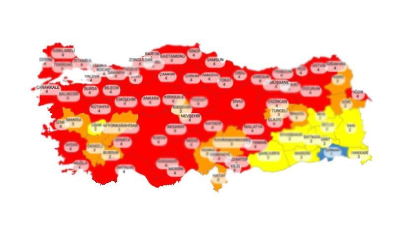Osmaniye hangi risk grubunda, renk kodu ne? Osmaniye sokağa çıkma yasağı var mı, hafta sonu?