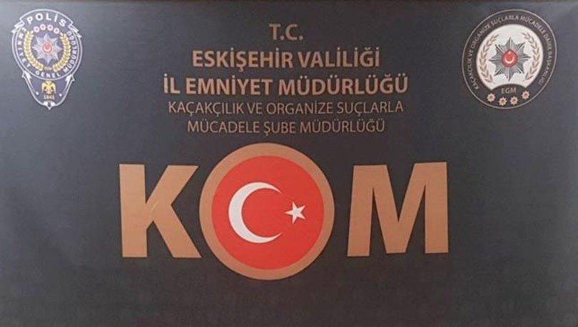 Eskişehir'de 590 bin boş makaron ele geçirildi, 2 zanlı gözaltına alındı