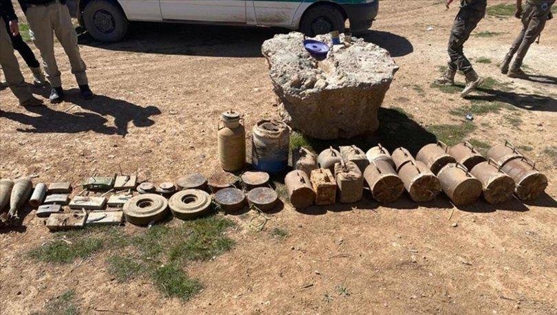 Tel Abyad'da 693 kilogram patlayıcı madde ele geçirildi