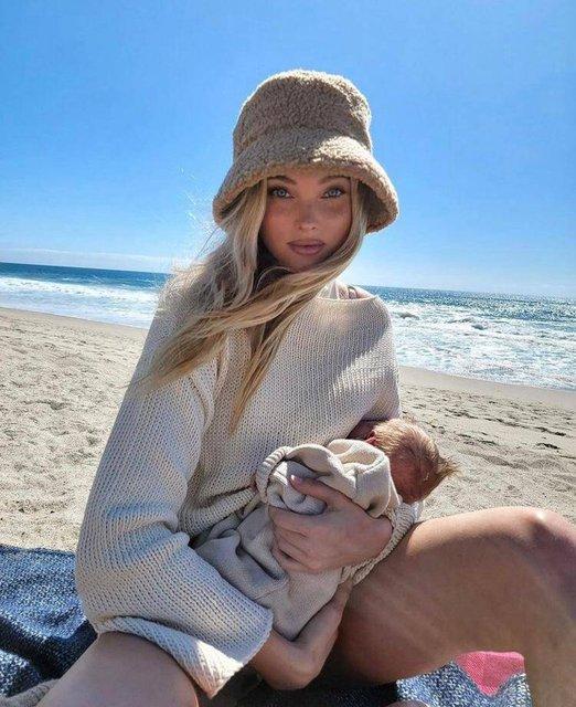 Elsa Hosk: Göğüsler, biz çocuklarımızı besleyelim diye var - Magazin haberleri