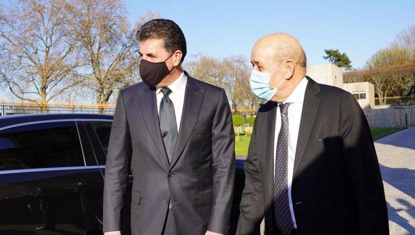 Fransa Dışişleri Bakanı Le Drian, IKBY Başkanı Barzani ile görüştü