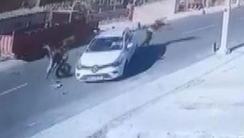 HAVADA TAKLA! Son dakika: Beykoz'da feci kaza... Kask korudu