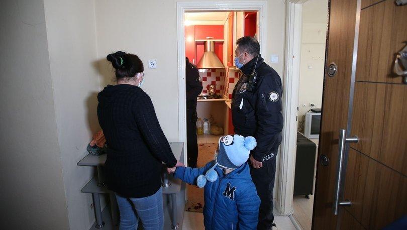 Eve kilitlenen kadını polis kurtardı! - Haberler