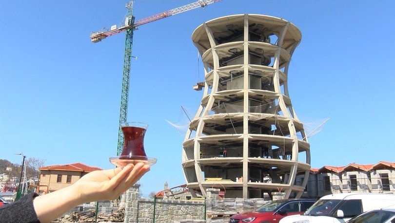Dünyanın en büyük çay bardağı Rize'de yükseliyor - Haberler