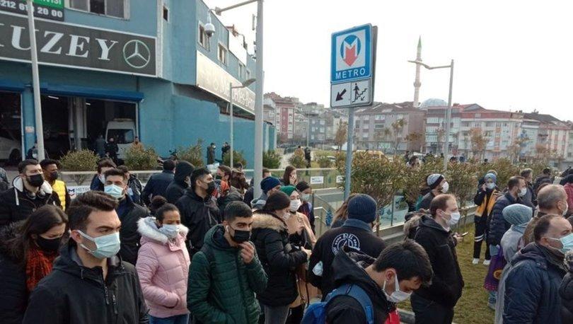 Mecidiyeköy-Mahmutbey metro hattında trafoda yangın çıktı, seferler durdu