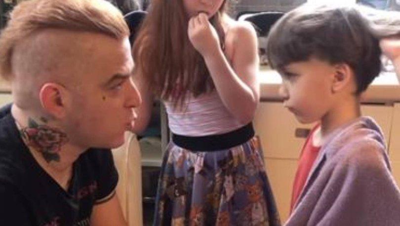Gökhan Özoğuz, oğlu Ali'yi tıraş etti - Magazin haberleri
