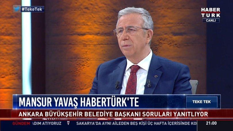 Mansur Yavaş Habertürk TV'de soruları yaınıtladı! VİDEO HABER