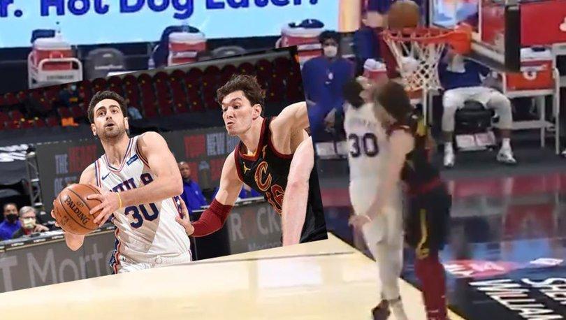 NBA'de Furkan Korkmaz'ın takımı 76ers, Cedi Osman'ın formasını giydiği Cavaliers'ı yendi