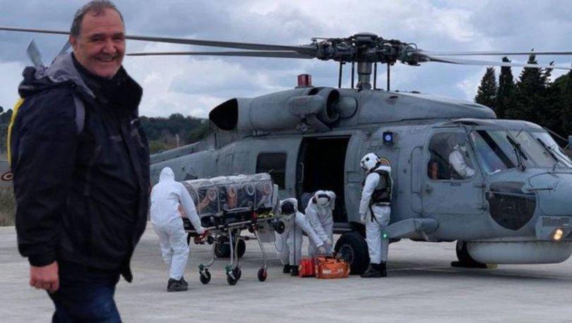 Helikopterle sevk edilen Rum öğretmen, korona kurbanı