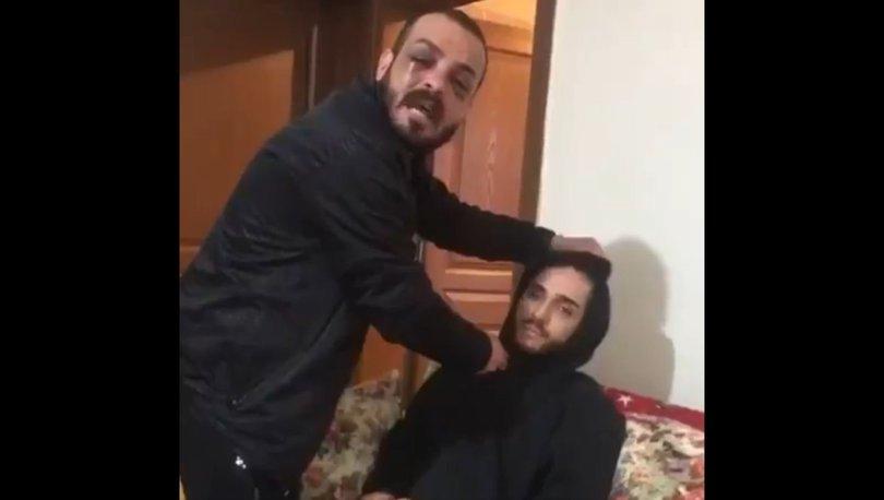Bıçaklı tehdit videosu | SON DAKİKA: Salgırgan işe kezzaplı tehidtle başlamış