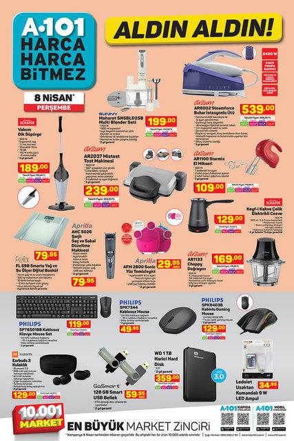 A101 BİM aktüel ürünler kataloğu A101 BİM 6-8 Nisan aktüel ürünleri! İşte tüm liste