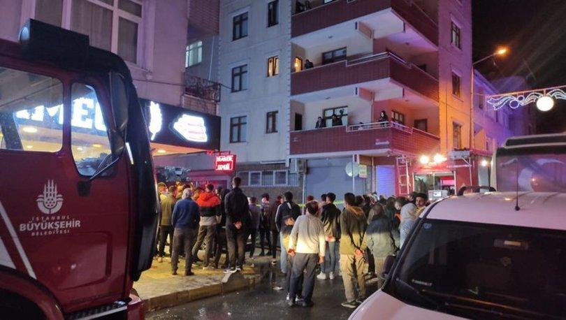 Bağcılar'da 6 katlı binanın çatısı alev alev yandı