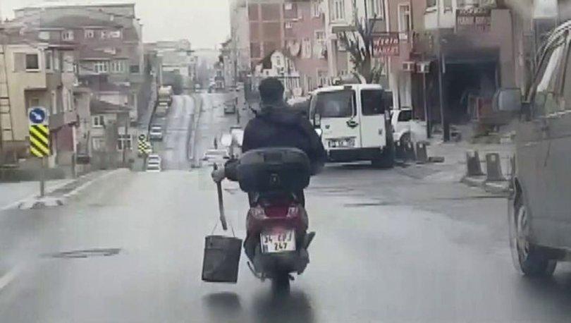 SERİ KÖZ GELİYOR! Son dakika haberi... Motosiklet sürücüsünün tehlikeli yolculuğu