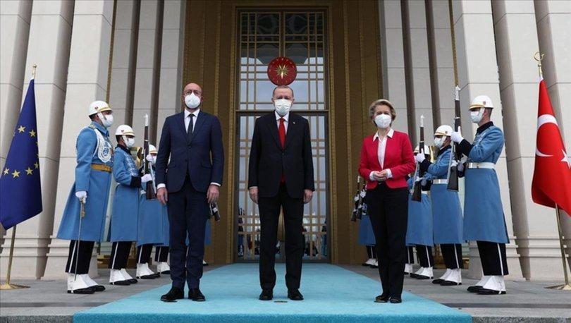 Cumhurbaşkanı Erdoğan'ı ziyaret eden AB heyetinden Türkiye mesajı