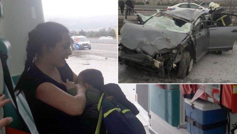 O BİR ANNE! Son dakika: Kaza alanında bebeğini emzirdi, öyle hastaneye gitti
