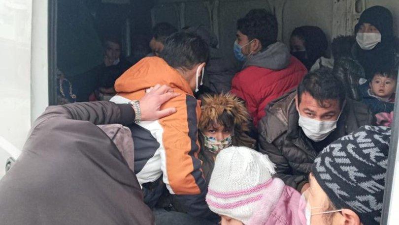 Minibüsten 38 kaçak göçmen çıktı - Haberler