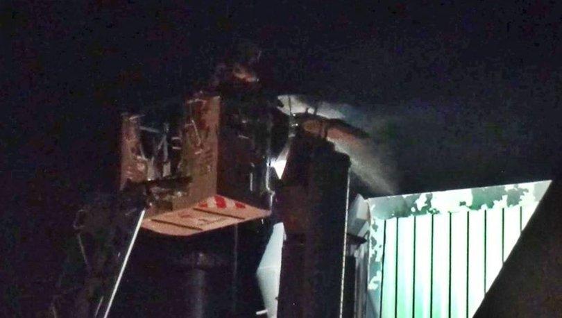 Silivri'de çikolata fabrikasında yangın