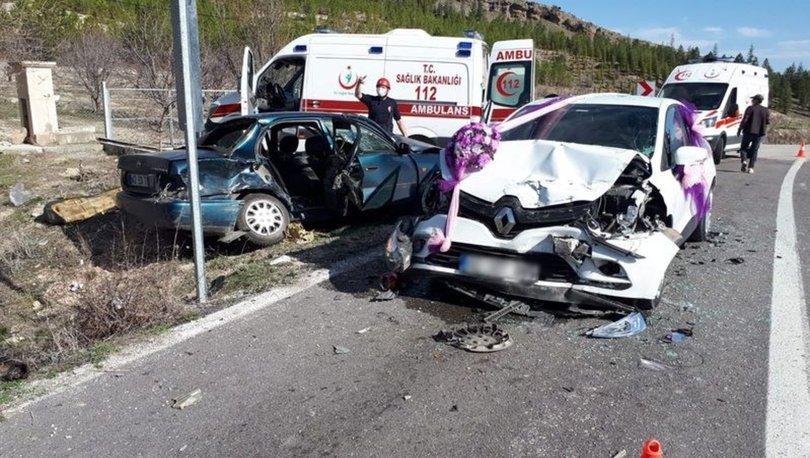 Konya'da gelin arabasının karıştığı zincirleme kazada 7 kişi yaralandı