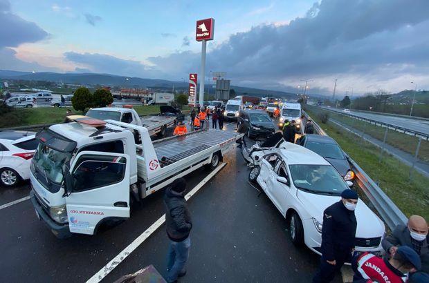 TEM'de zincirleme kaza: 8 yaralı!
