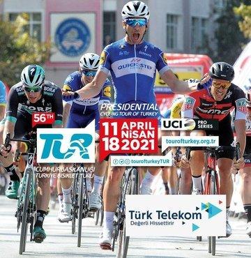 56. Cumhurbaşkanlığı Türkiye Bisiklet Turu, Türk Telekom'un iletişim ve teknoloji sponsorluğunda 11 Nisan Pazar günü Kapadokya'dan bisikletçilerin pedal çevirmesi ile başlayacak. 1388 kilometrelik tur, 18 Nisan Pazar tarihinde Kuşadası'nda son bulacak.