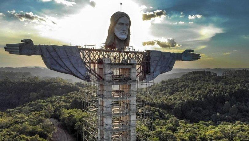 SON DAKİKA: Brezilya'ya ikonik Kurtarıcı İsa heykelinden daha uzun bir İsa heykeli inşa ediliyor