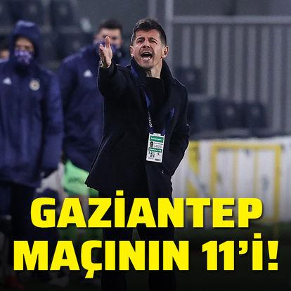 Fenerbahçe'nin ilk 11'i!