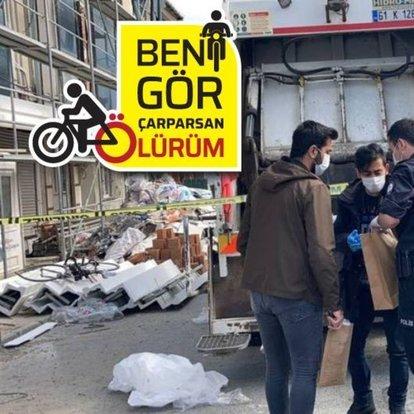 Bir bisikletli daha kamyon kurbanı!