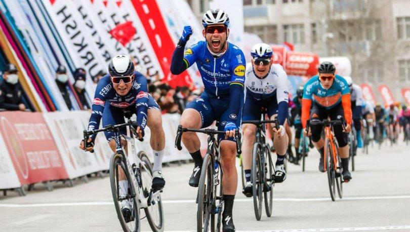 56. Cumhurbaşkanlığı Türkiye Bisiklet Turu Konya-Konya etabının ikinci ayağını Mark Cavendish kazandı