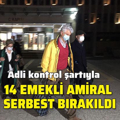 Emekli amiraller adli kontrol şartıyla serbest