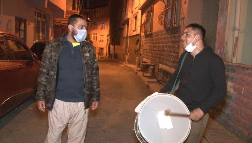 İstanbul'da Ramazan davulcusundan koronavirüs bestesi