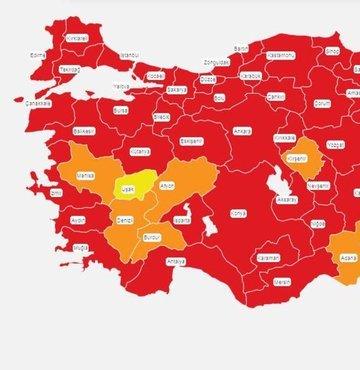 Sağlık Bakanı Fahrettin Koca, illere göre 20-29 Mart tarihlerinde görülen Kovid-19 vakası sayılarını açıkladı. Türkiye