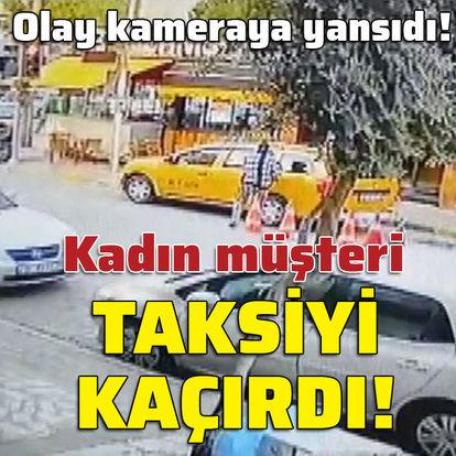Taksiyi kaçıran kadın müşteri yayaya çarptı!