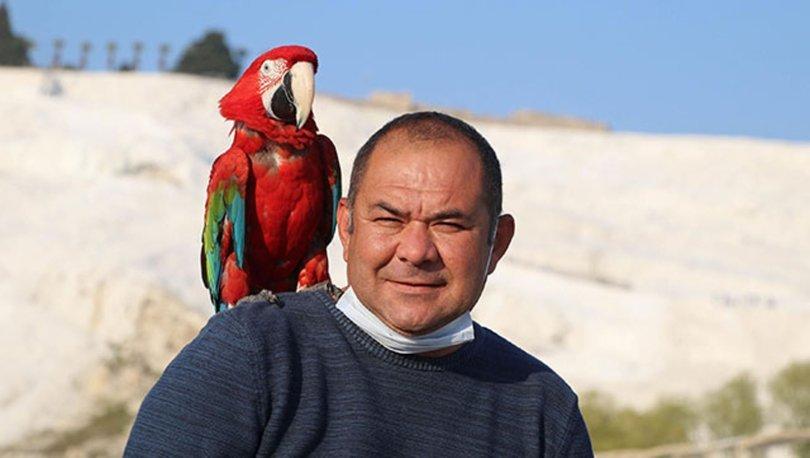 Papağanı, can dostu oldu