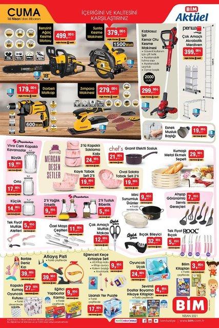 16 Nisan BİM aktüel ürünler kataloğu! BİM haftanın indirimli ürünler listesi