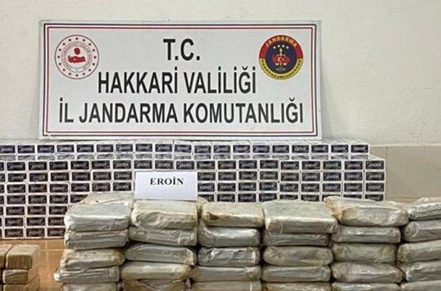 Yüksekova'da 35 kilogram eroin ele geçirildi