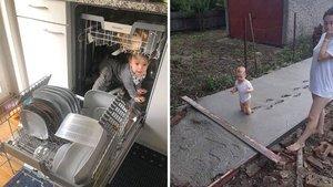 Çocuğunu yalnız bıraktı, döndüğünde şoke oldu