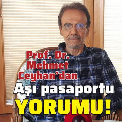 Prof. Dr. Mehmet Ceyhan'dan aşı pasaportu yorumu!